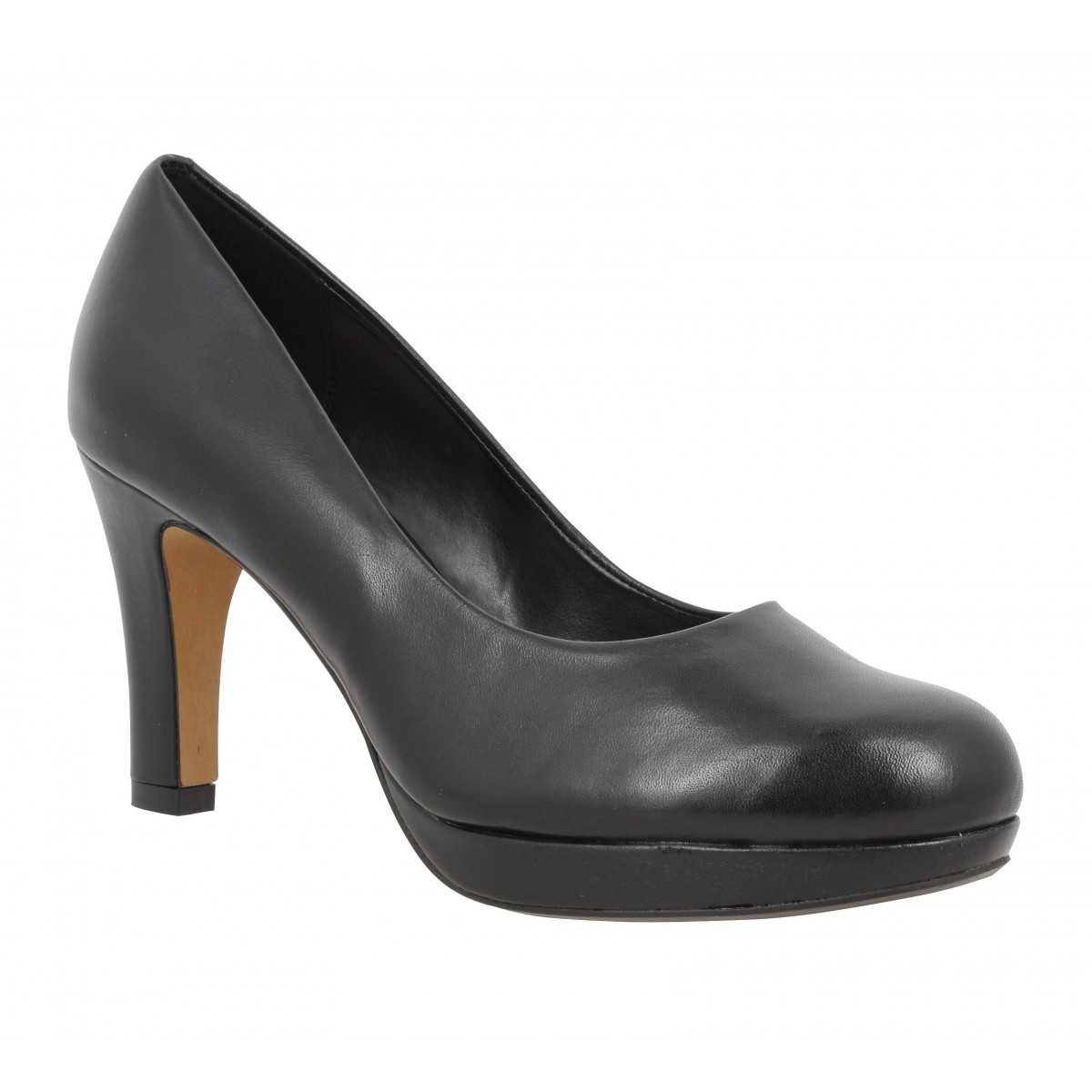 Escarpins CLARKS Crisp Kendra cuir Femme Noir