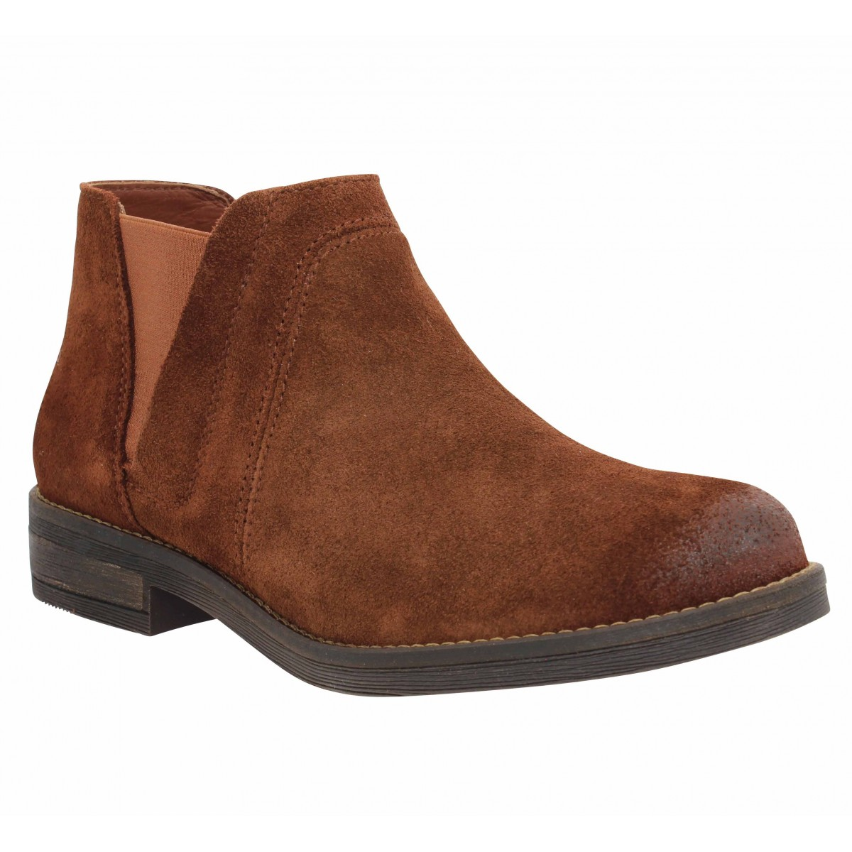 Bottines CLARKS Demi Beat suede Femme Tan