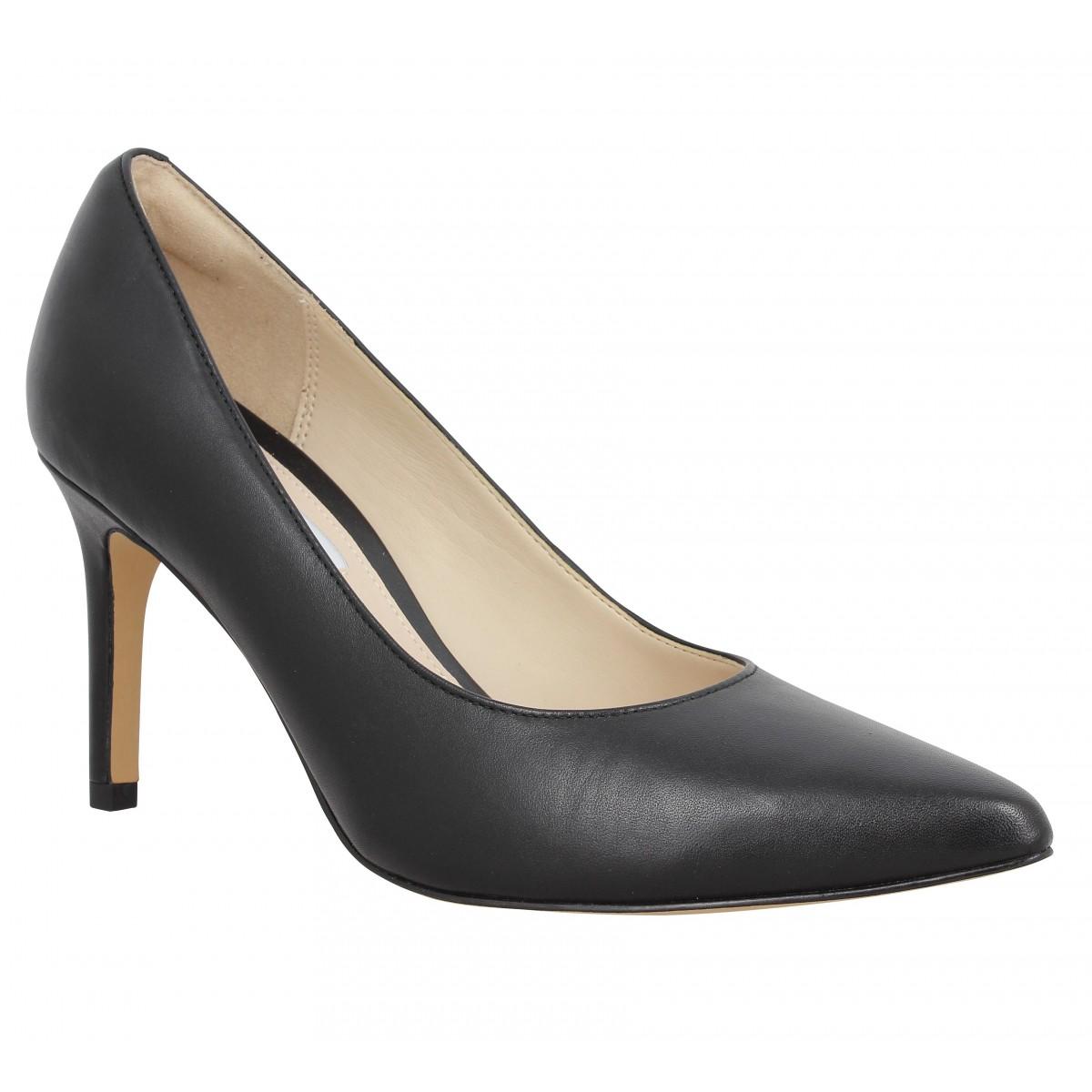 Clarks Femme Dinah Keer Cuir-37-noir
