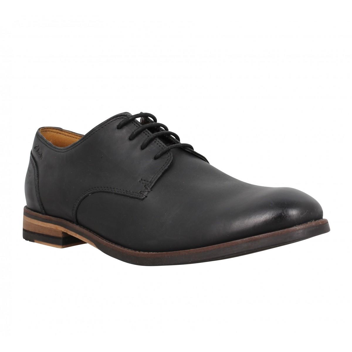 Chaussures à lacets CLARKS Exton Walk cuir Homme Noir