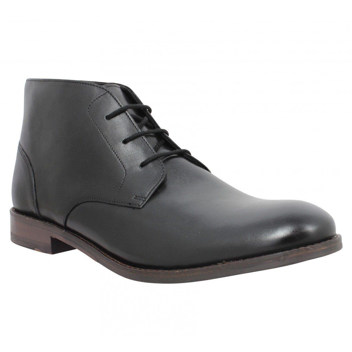 Bottines CLARKS Flow Top cuir Homme Noir