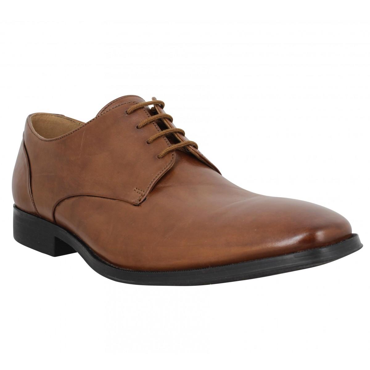 Chaussures à lacets CLARKS Gilman Plain cuir Homme Tan
