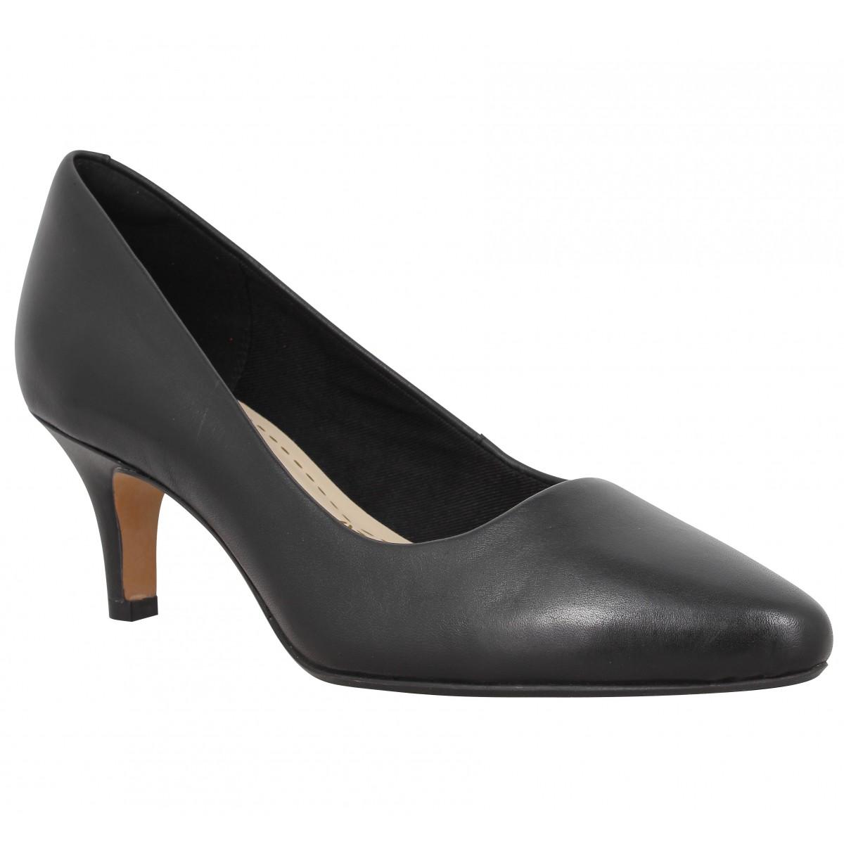 Escarpins CLARKS Isidora Faye cuir Femme Noir