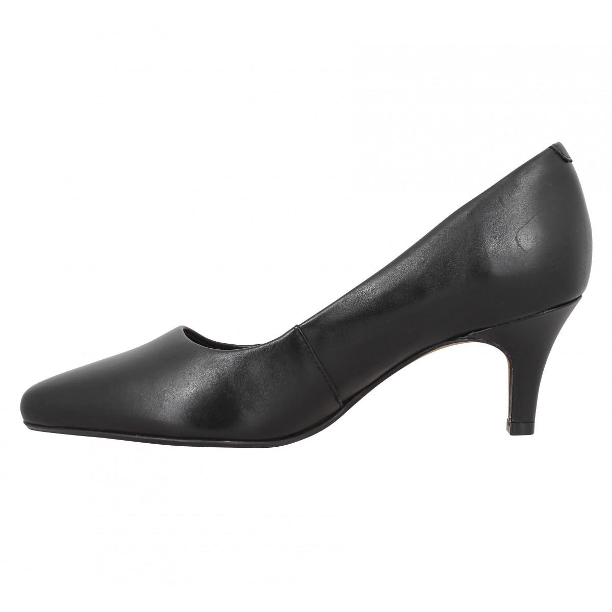 Escarpins CLARKS Isidora Faye cuir Femme Noir. 1