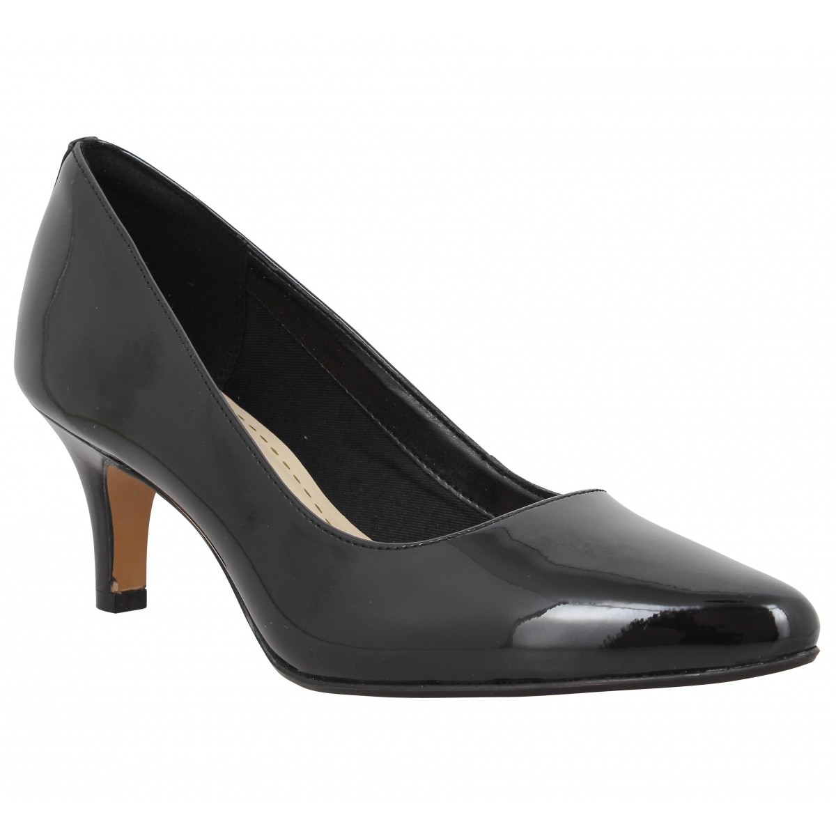 Isidora Vernis Chaussures Faye Clarks Fanny Noir Femme 5fPwwq