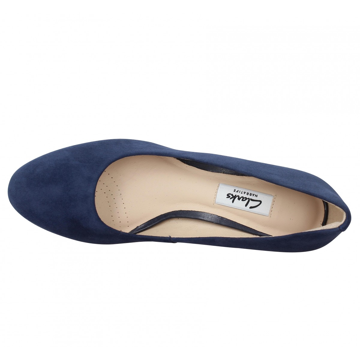 Navy Sienna Kendra Velours Clarks Fanny Femme Chaussures RUTBnwqn