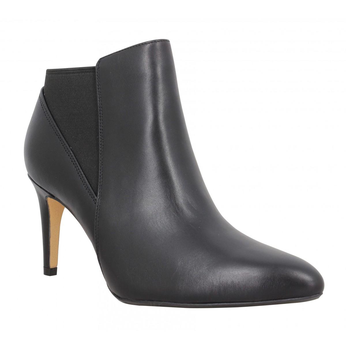Bottines CLARKS Laina Violet cuir Femme Noir