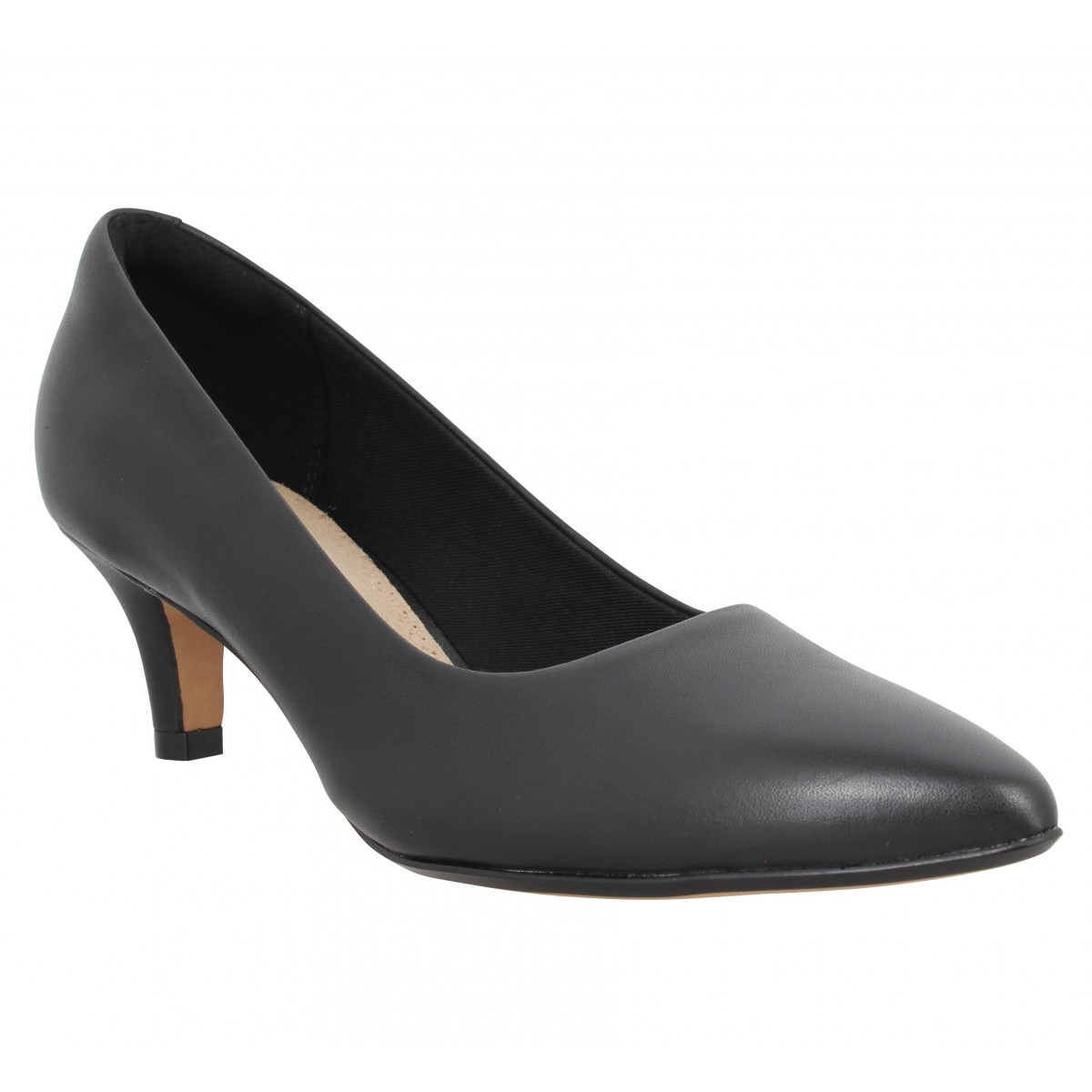 Escarpins CLARKS Linvale Jerica cuir Femme Noir