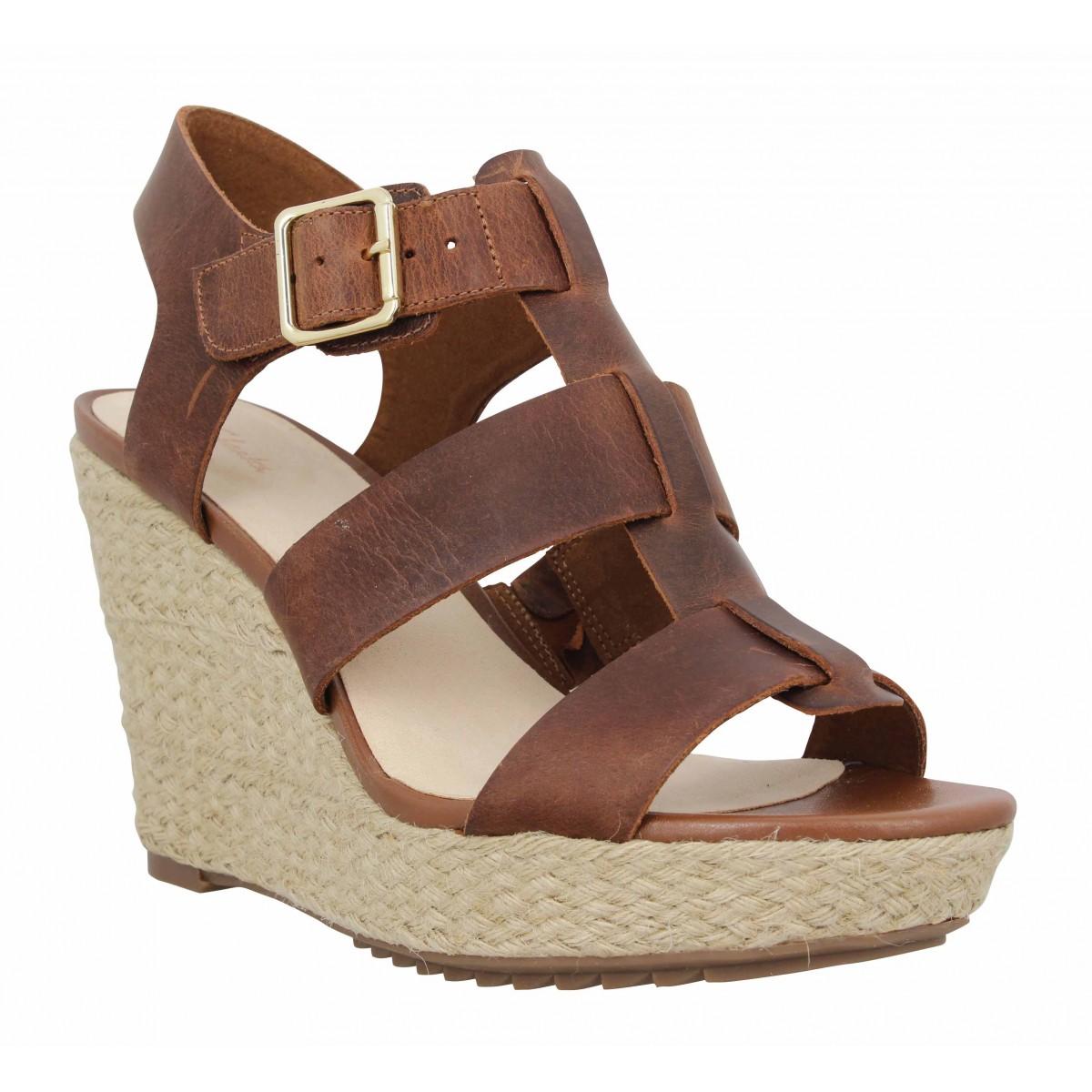 Sandales talons CLARKS Maritsa95 Glad cuir Femme Tan