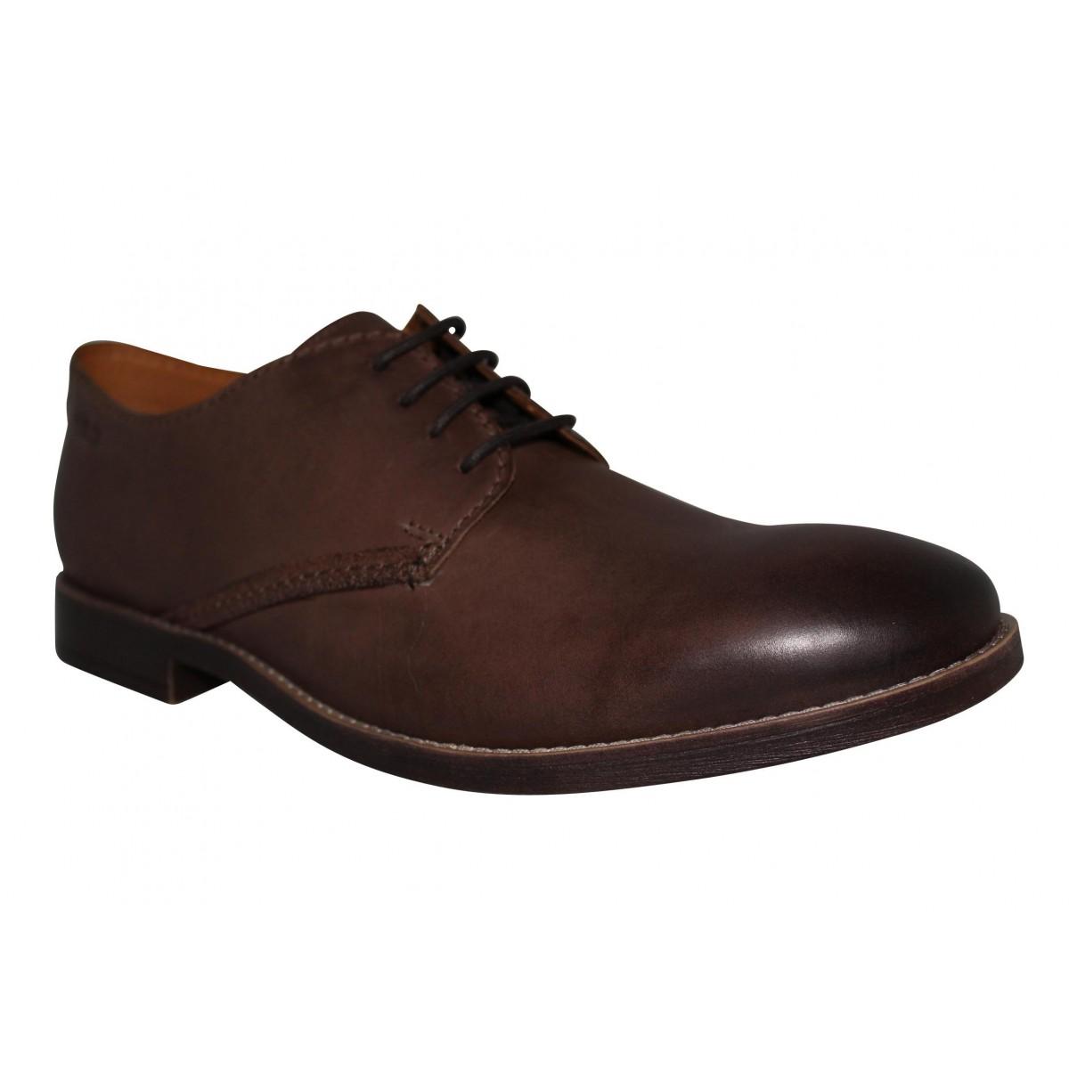 Chaussures à lacets CLARKS Novato Plain cuir Homme Marron