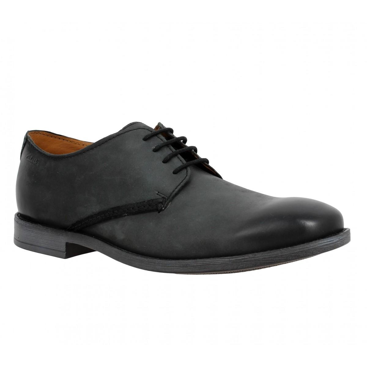 Chaussures à lacets CLARKS Novato Plain cuir Homme Noir