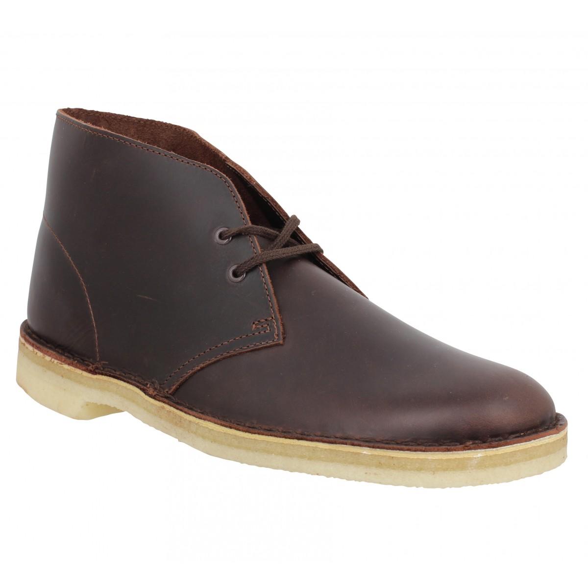 Bottines CLARKS ORIGINALS Desert Boot cuir Homme Chestnut
