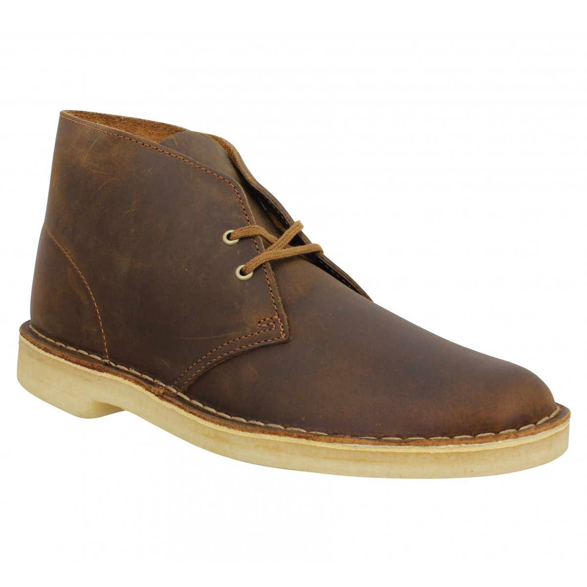 Clarks Homme Originals Boot Marron Desert Cuir IDH2E9