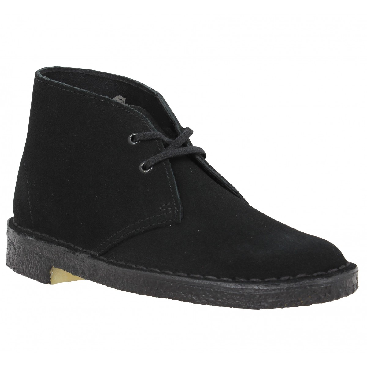 outlet online lower price with fashion Clarks originals desert boot velours femme noir femme | Fanny ...