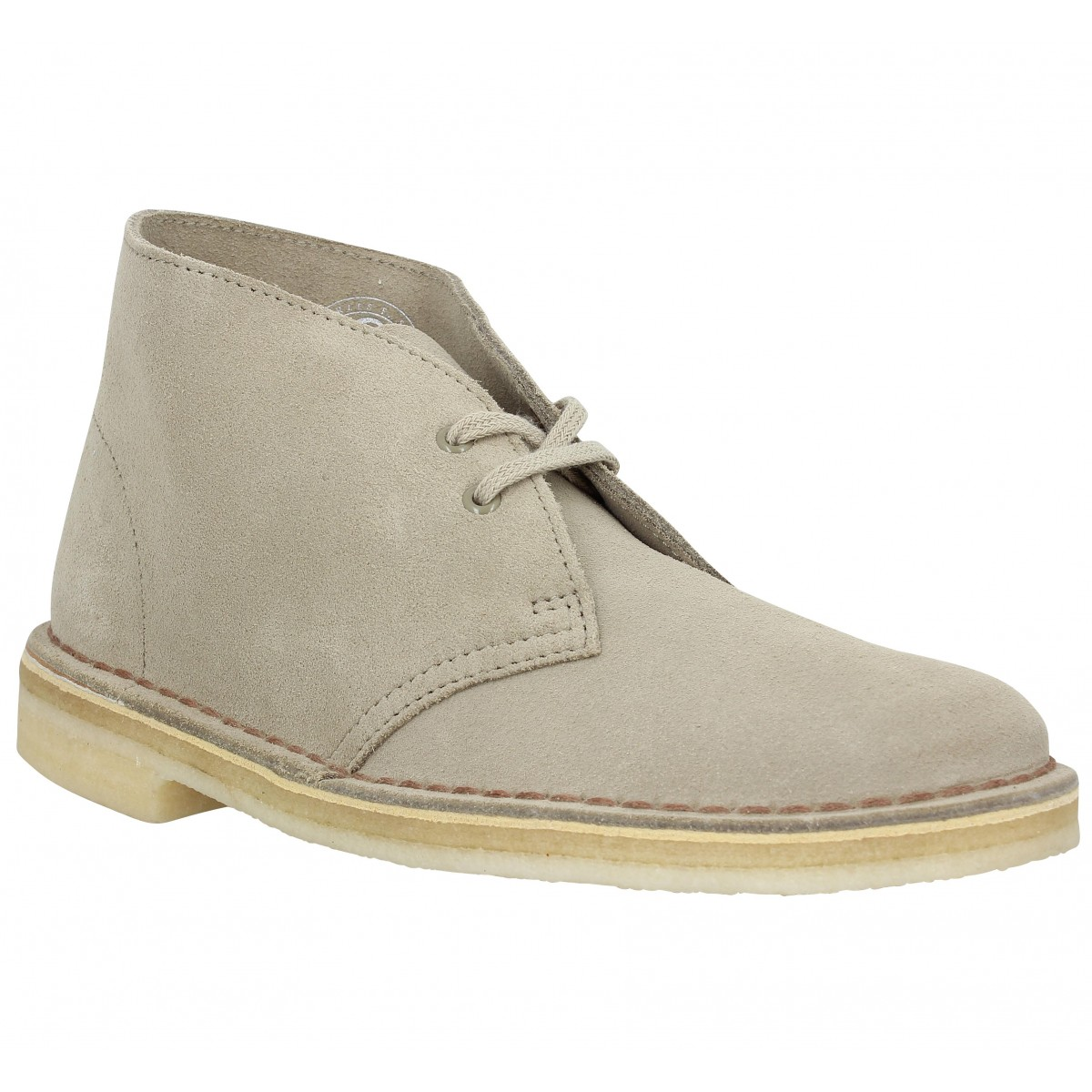 Bottines CLARKS ORIGINALS Desert Boot velours Femme Sand