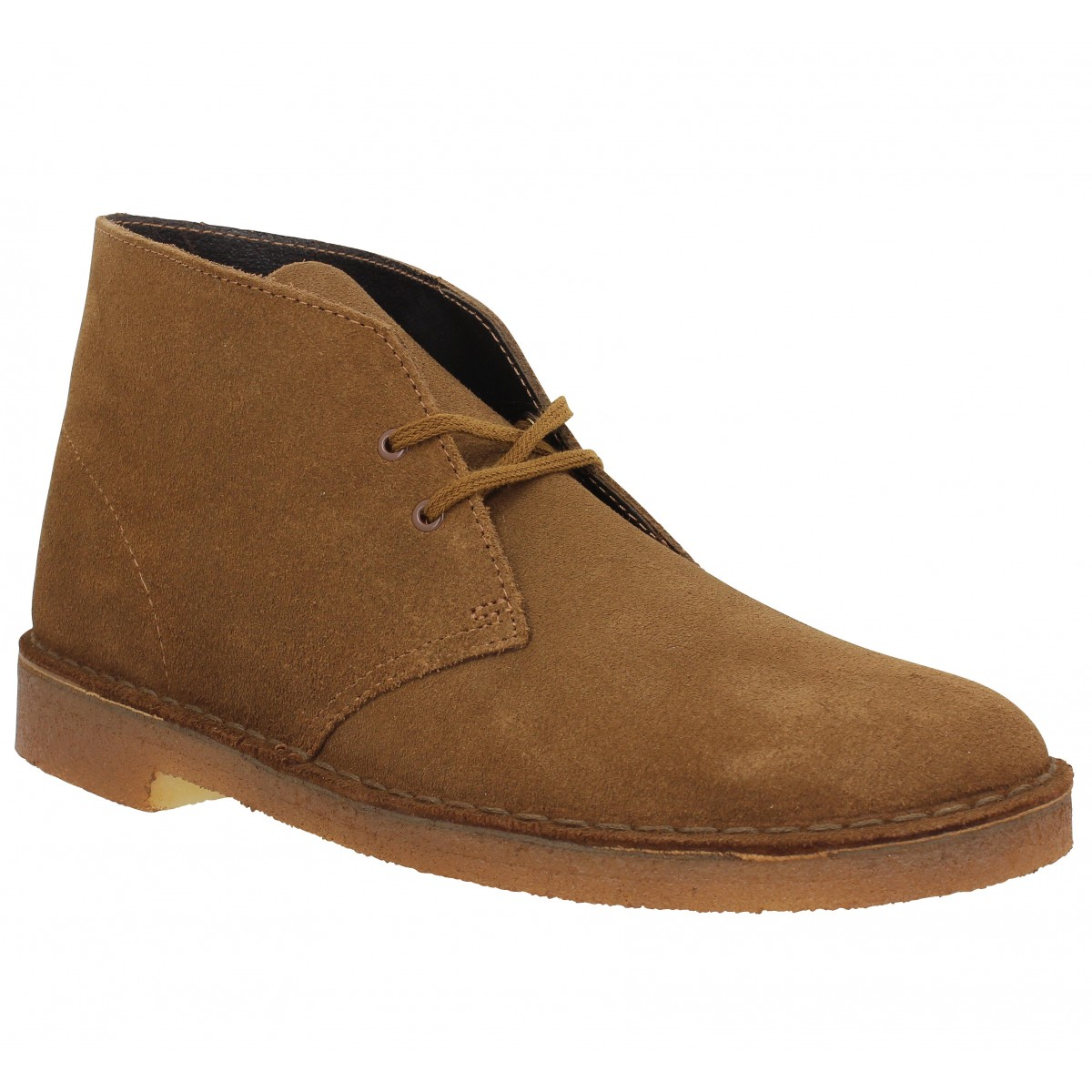 Bottines CLARKS ORIGINALS Desert Boot velours Homme Cola