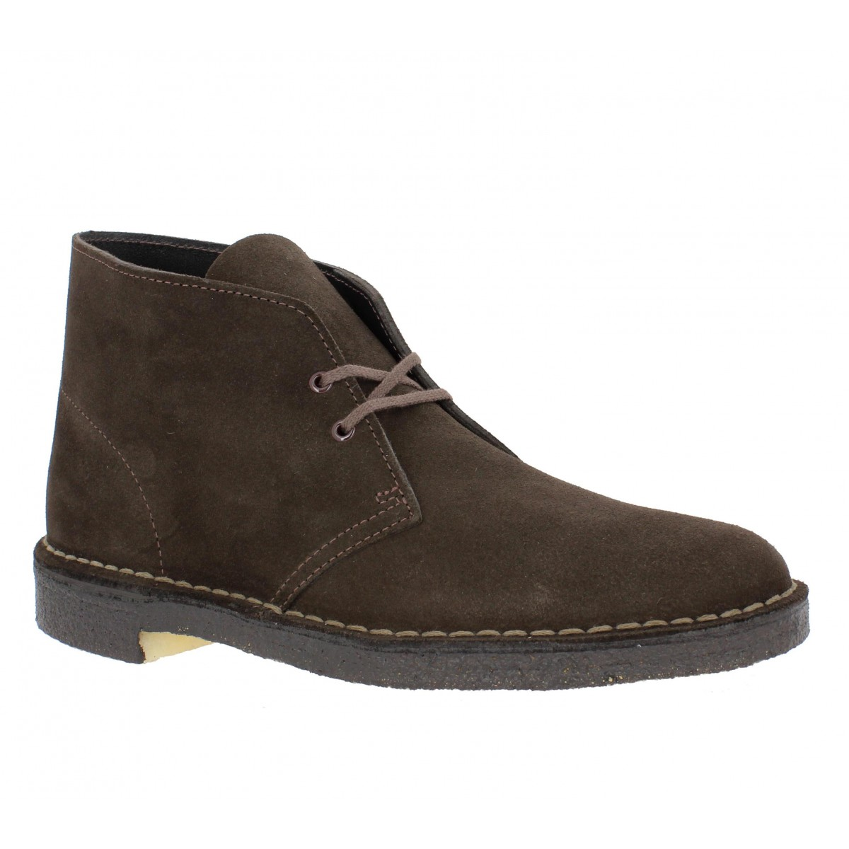 Bottines CLARKS ORIGINALS Desert Boot velours Homme Marron