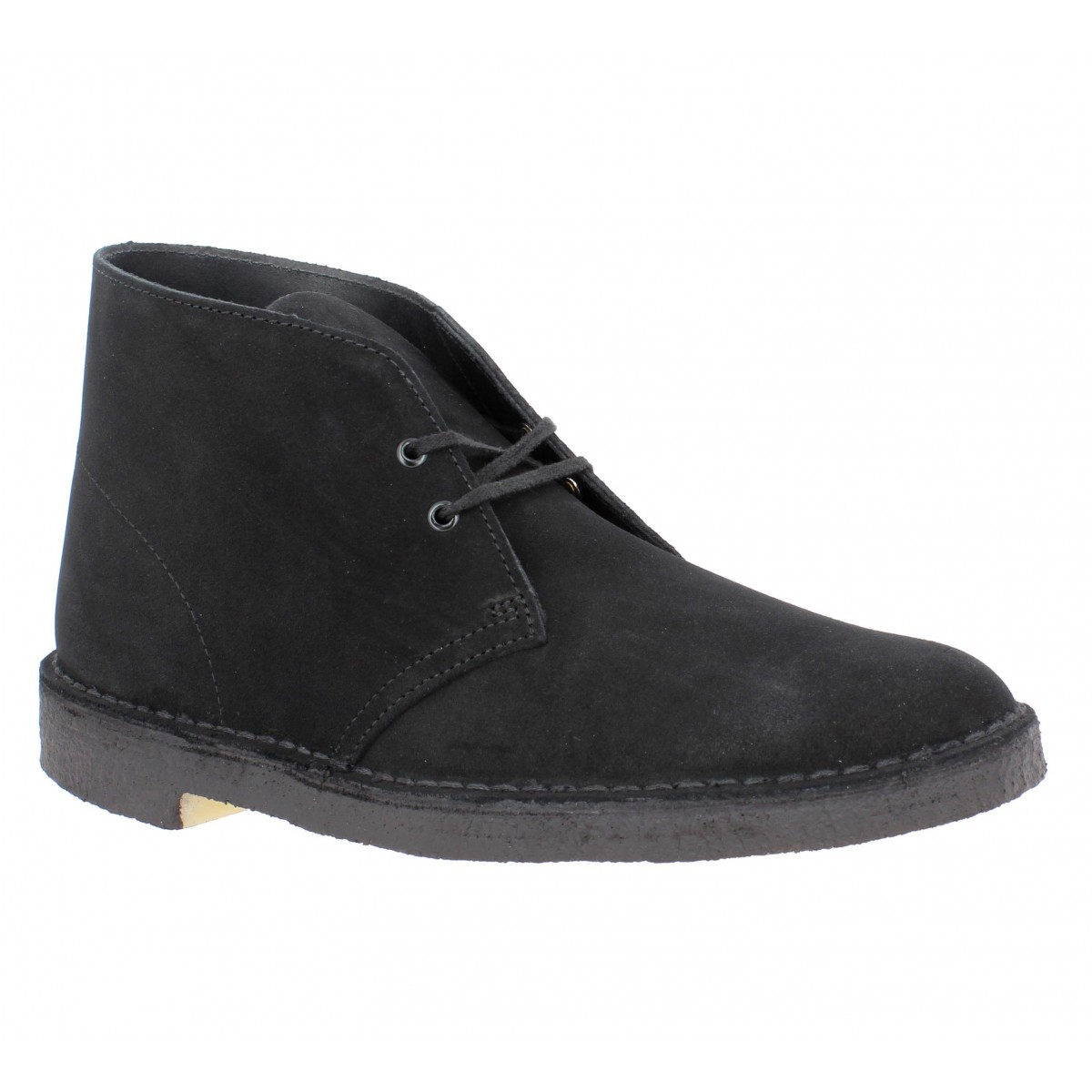 Bottines CLARKS ORIGINALS Desert Boot velours Homme Noir