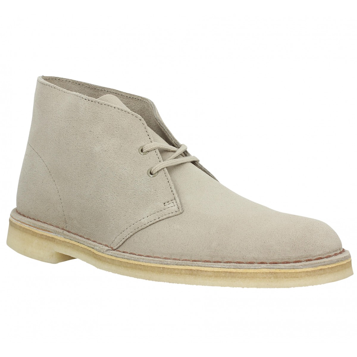 Bottines CLARKS ORIGINALS Desert Boot velours Homme Sand
