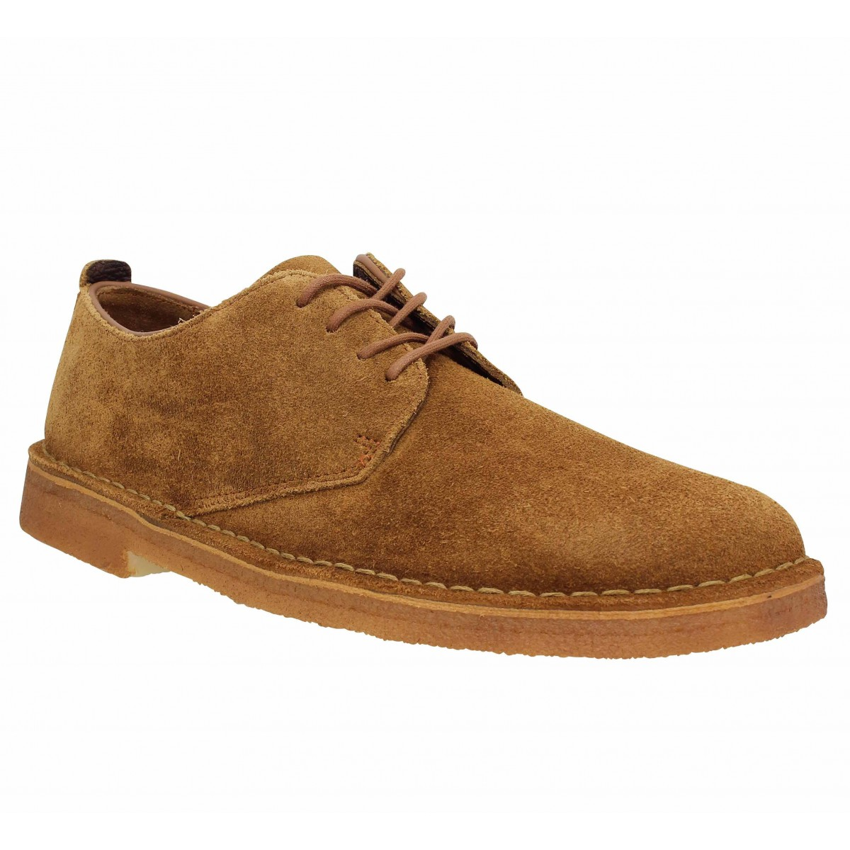 Chaussures à lacets CLARKS ORIGINALS Desert London velours Homme Cola