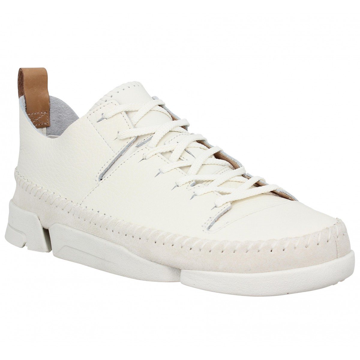 Baskets CLARKS ORIGINALS Trigenic Flex cuir Homme Blanc