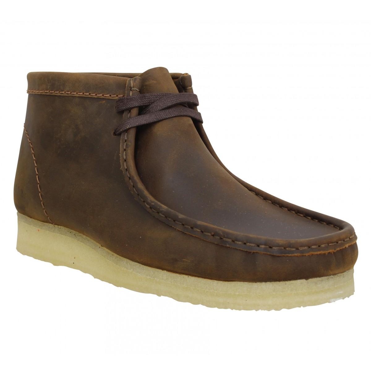 Bottines CLARKS ORIGINALS Wallabee Boot cuir Homme Beeswax