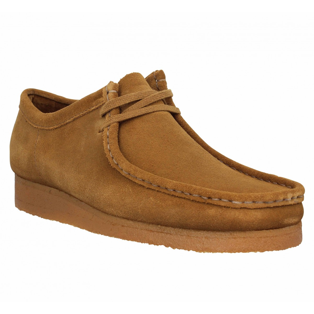 CLARKS ORIGINALS Wallabee velours Homme Cola