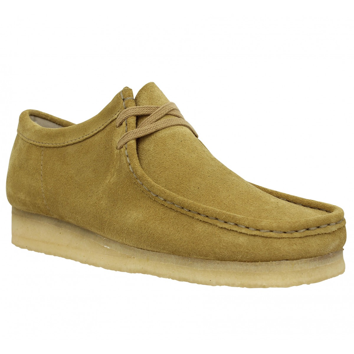 Chaussures à lacets CLARKS ORIGINALS Wallabee velours Homme Taupe