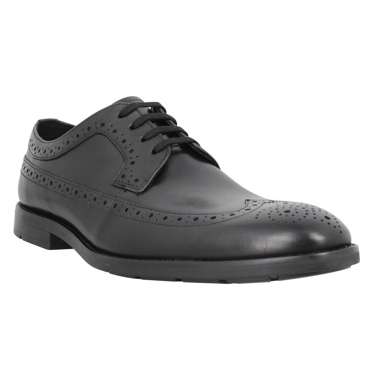 Chaussures à lacets CLARKS Ronnie Limit cuir Homme Noir
