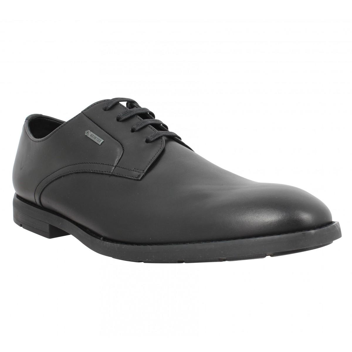 Chaussures à lacets CLARKS Ronnie Walk GTX cuir Homme Noir