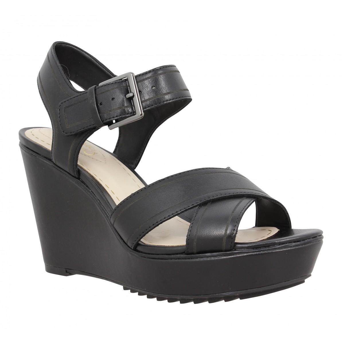 Sandales talons CLARKS Scent Sky cuir Femme Noir