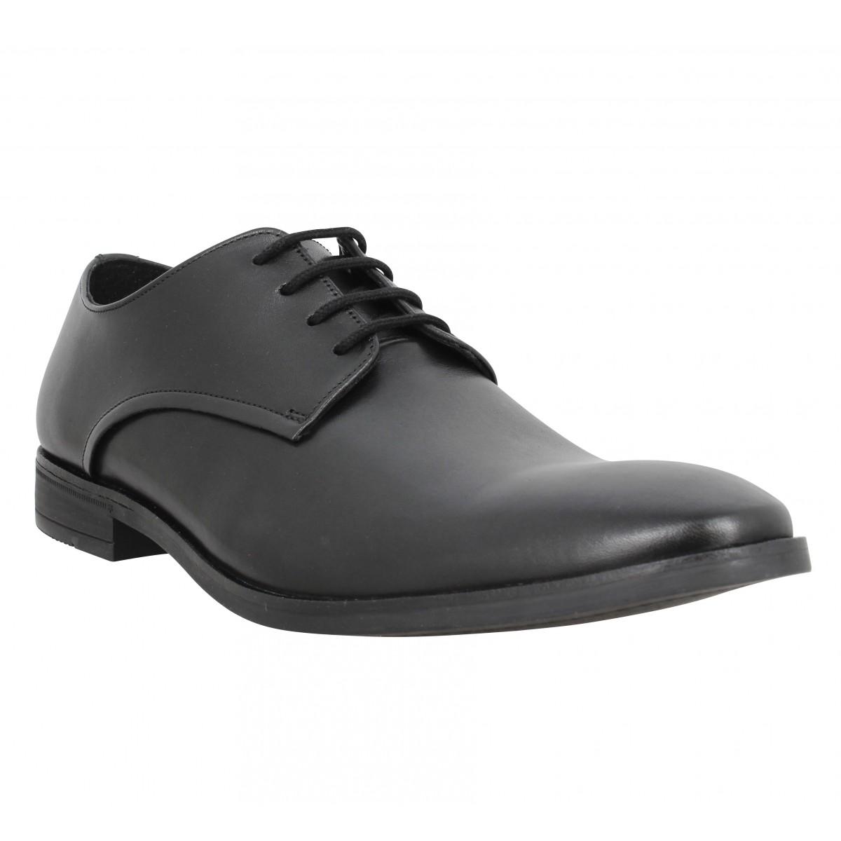 Chaussures à lacets CLARKS Stanford Walk cuir Homme Noir