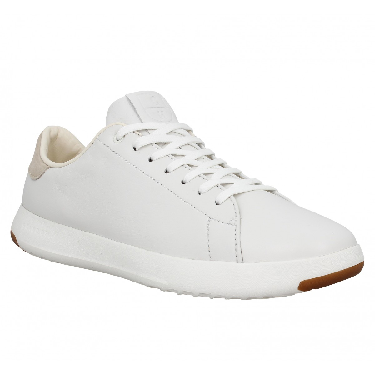 Baskets COLE HAAN GP Tennis cuir Homme Blanc