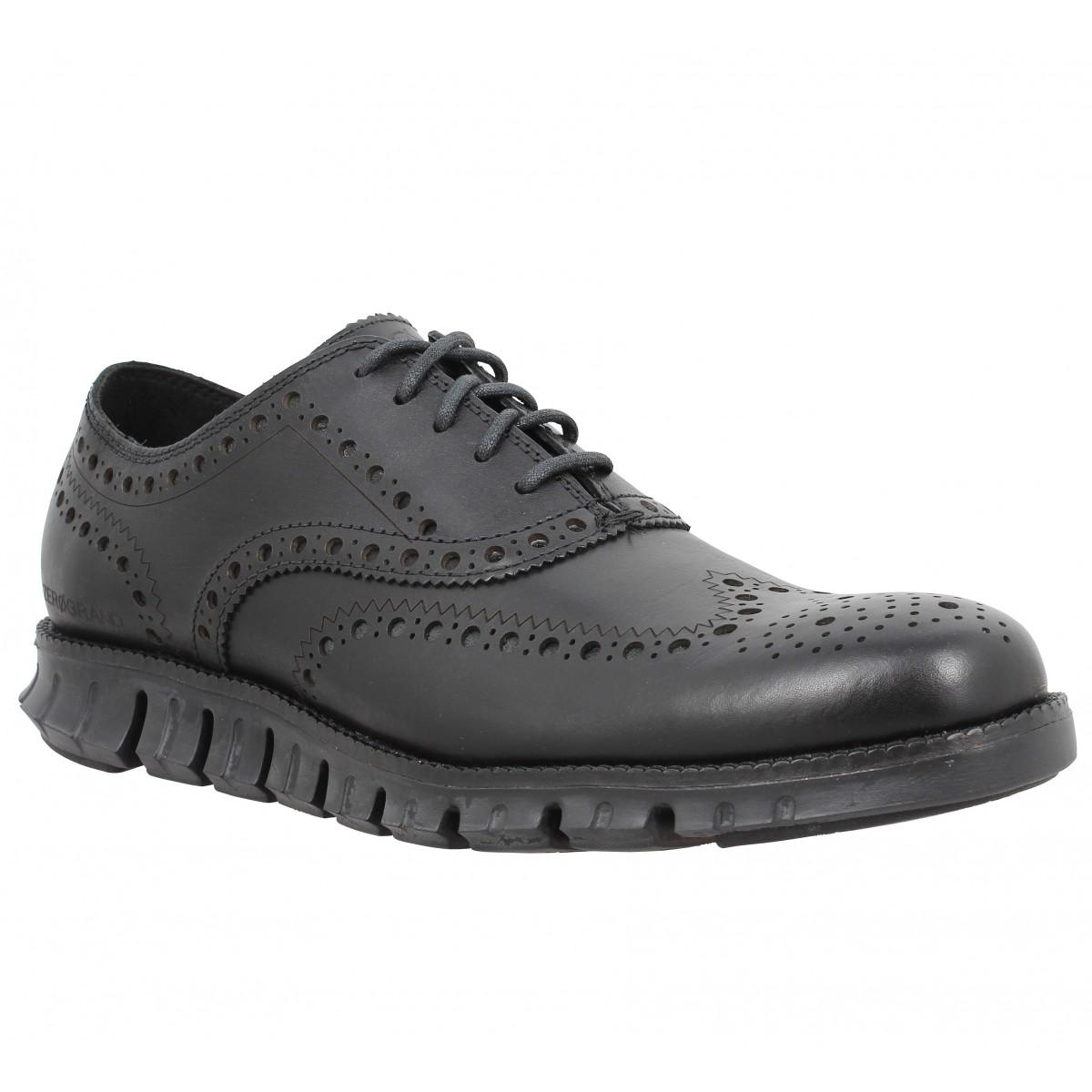 Chaussures à lacets COLE HAAN Zerogrand Wingtip Oxford cuir Homme Noir