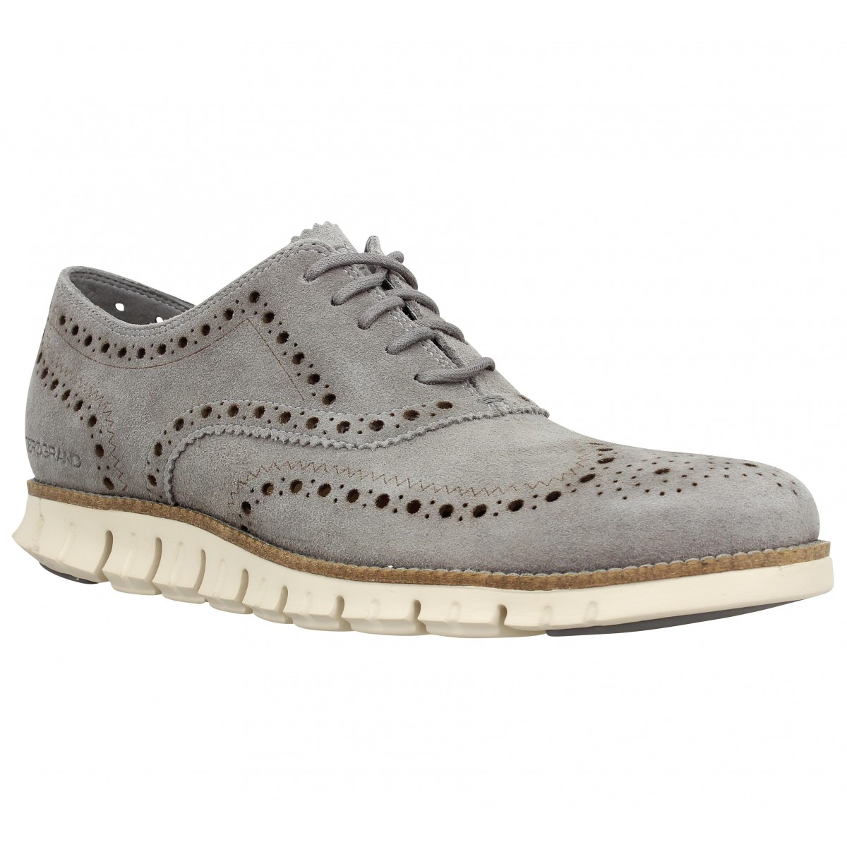 Chaussures à lacets COLE HAAN Zerogrand Wingtip Oxford Gris