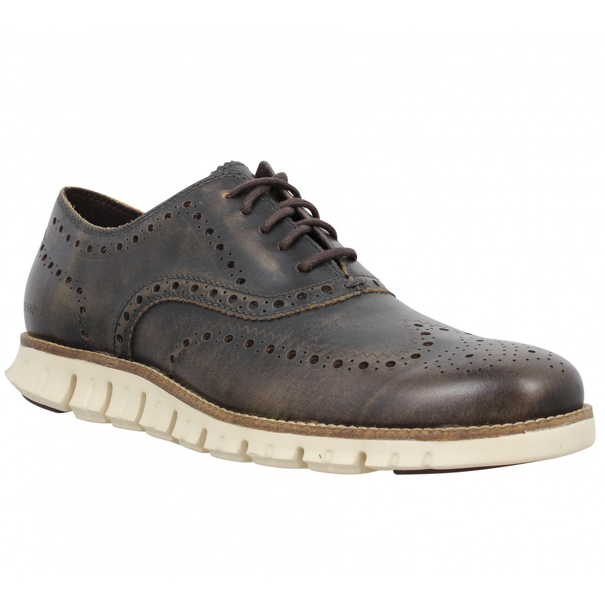 Chaussures à lacets COLE HAAN Zerogrand Wingtip Oxford Marron