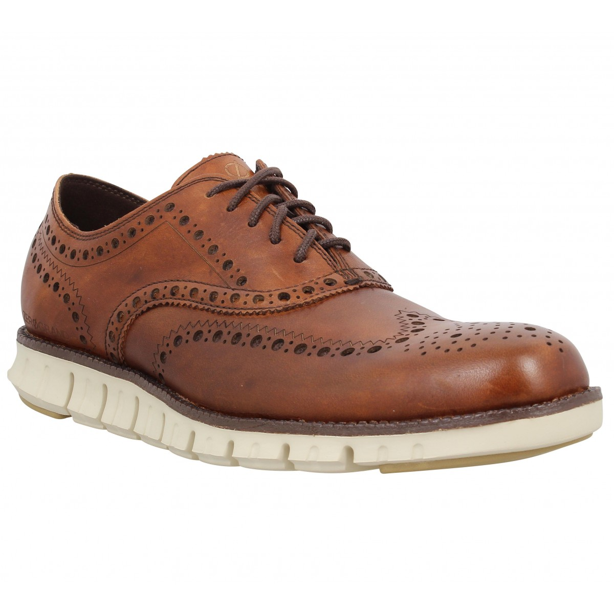 Chaussures à lacets COLE HAAN Zerogrand Wingtip Oxford Tan