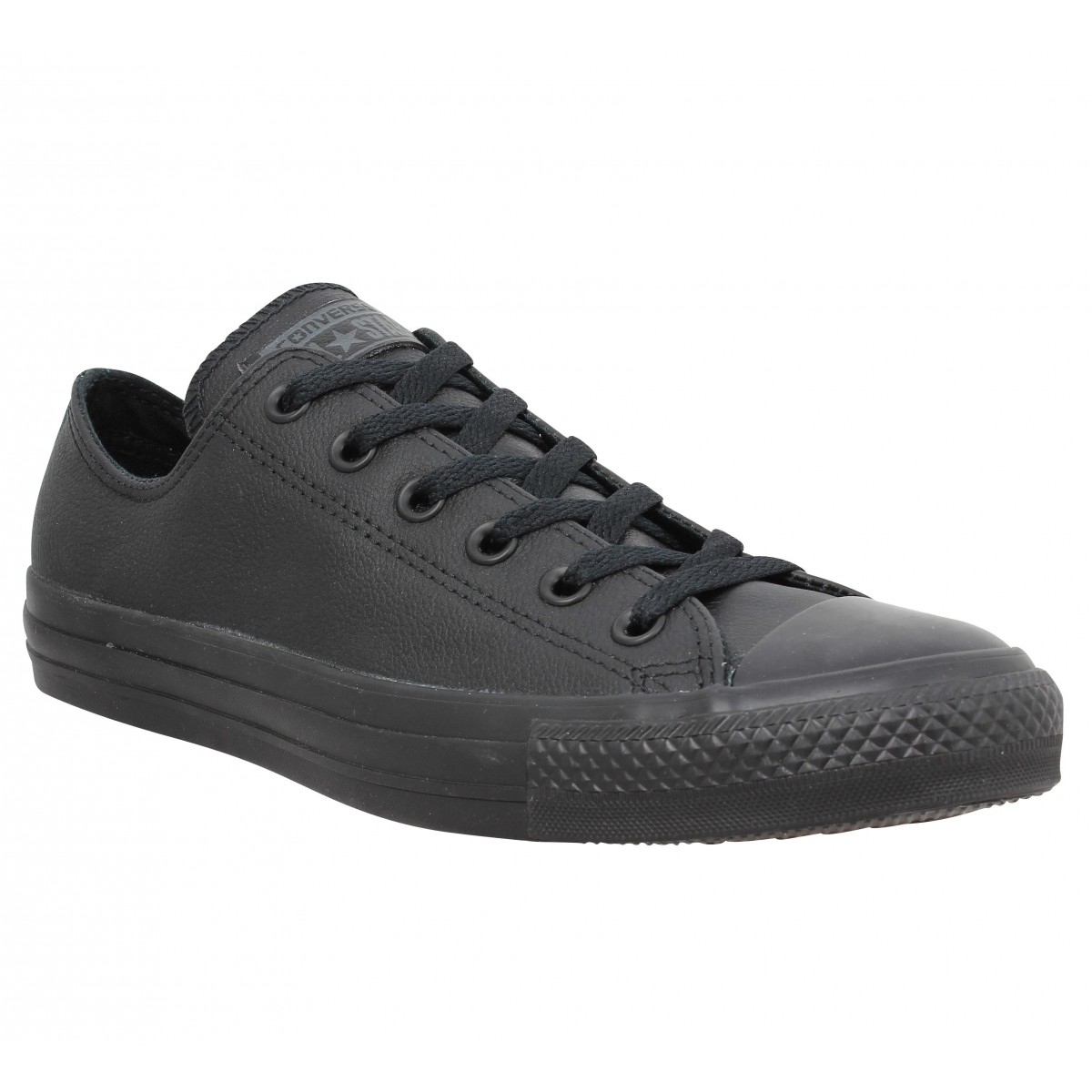 Baskets CONVERSE Chuck Taylor All Star cuir Femme Black