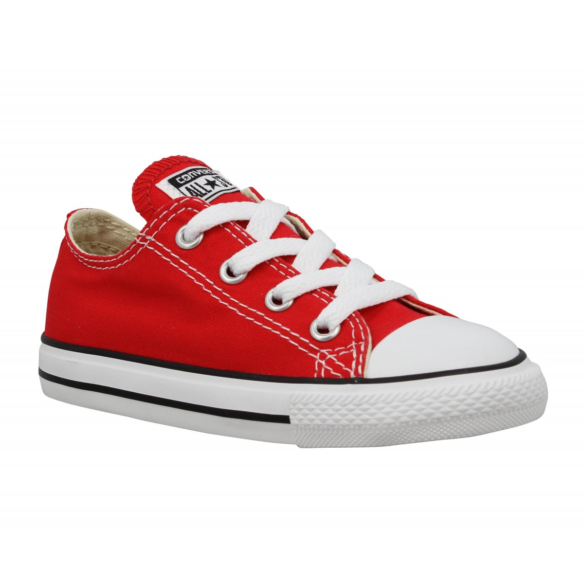 Baskets CONVERSE Chuck Taylor All Star toile Enfant Rouge
