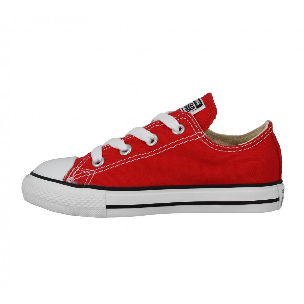 Converse 15810 toile enfant rouge | Fanny chaussures