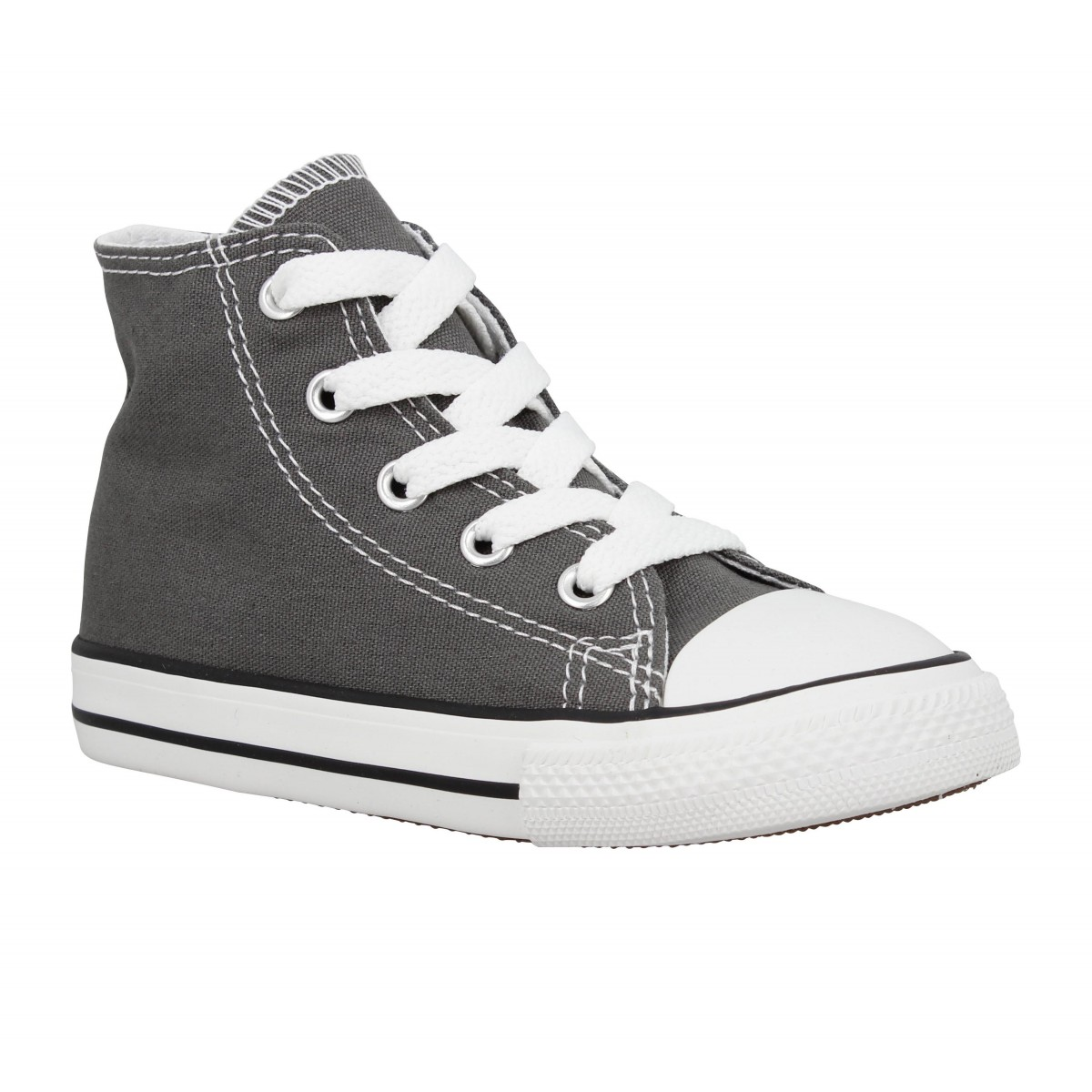 Baskets CONVERSE Chuck Taylor All Star Hi toile Enfant Anthracite