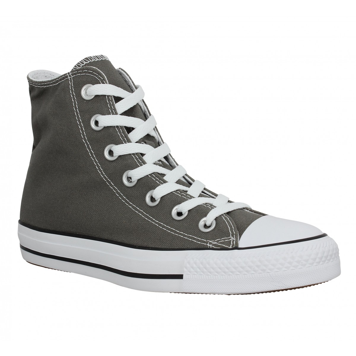 Baskets CONVERSE Chuck Taylor All Star Hi toile Femme Anthracite