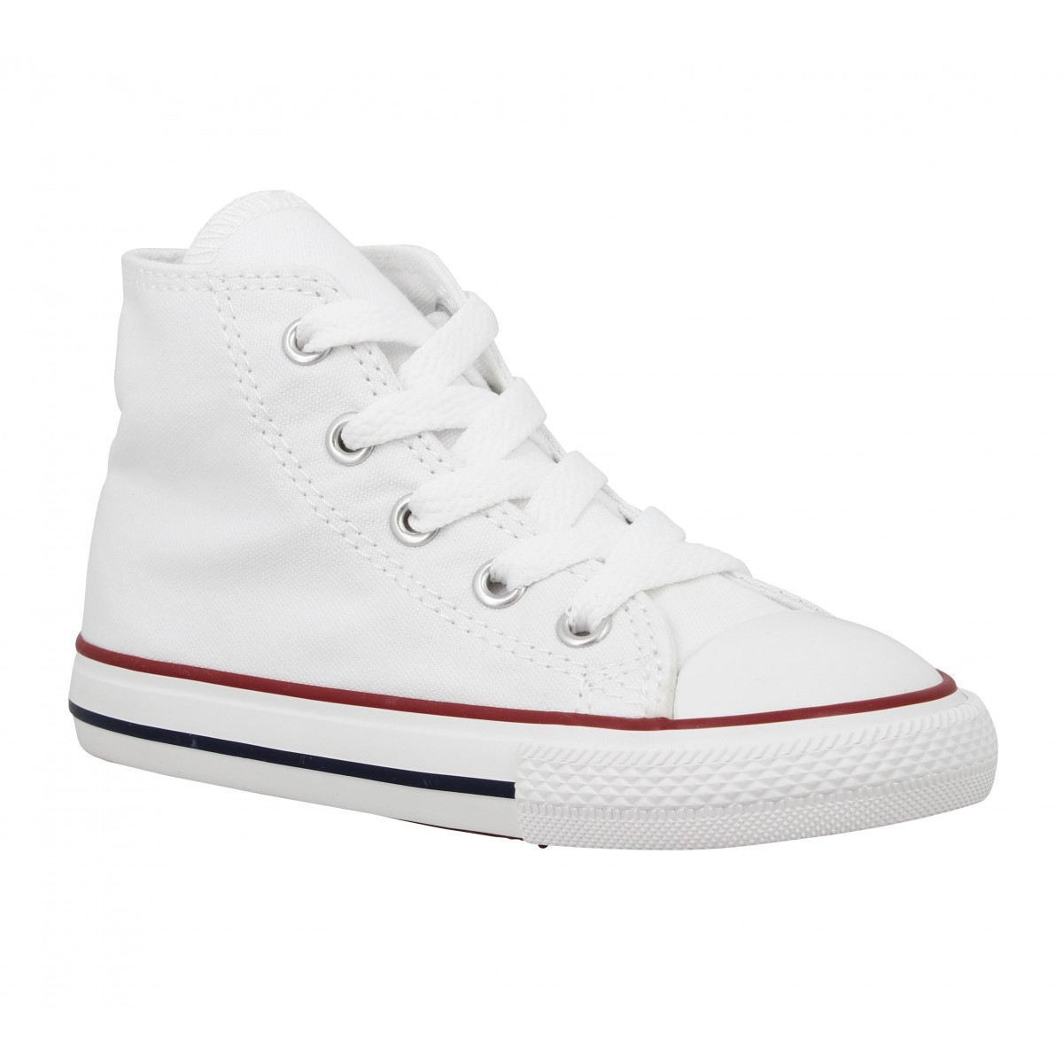 Baskets CONVERSE Chuck Taylor All Star Hi toile Enfant Blanc