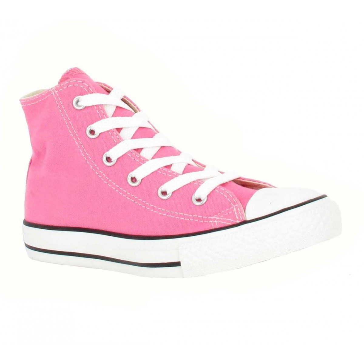 Baskets CONVERSE Chuck Taylor All Star Hi toile Enfant Rose
