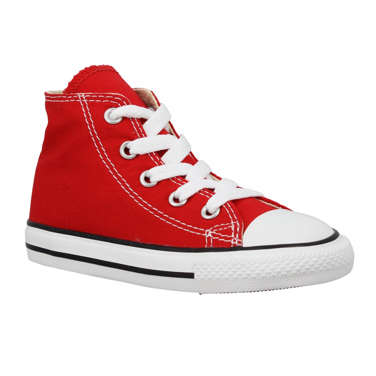 Baskets CONVERSE Chuck Taylor All Star Hi toile Enfant Rouge