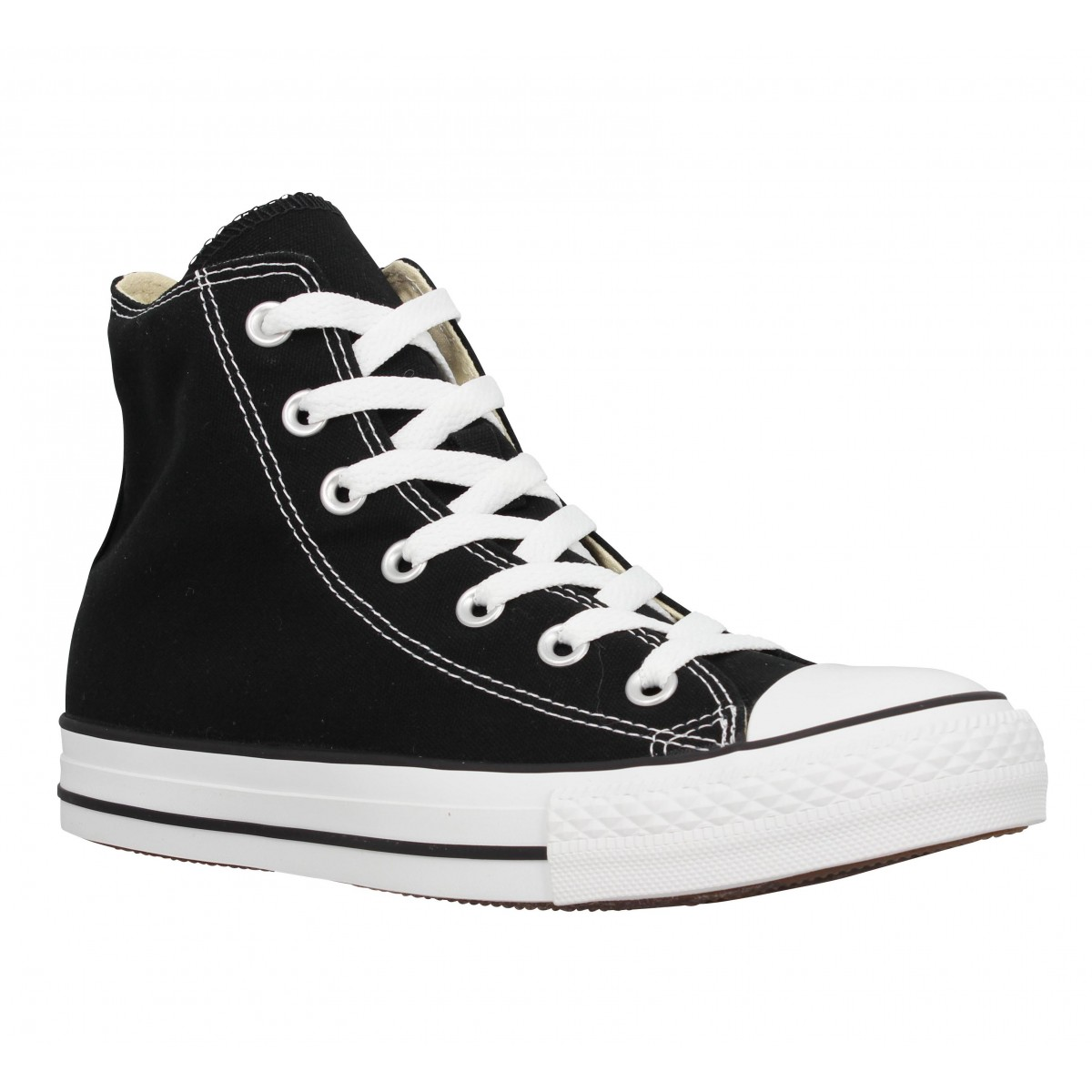 Baskets CONVERSE Chuck Taylor All Star Hi toile Femme Noir
