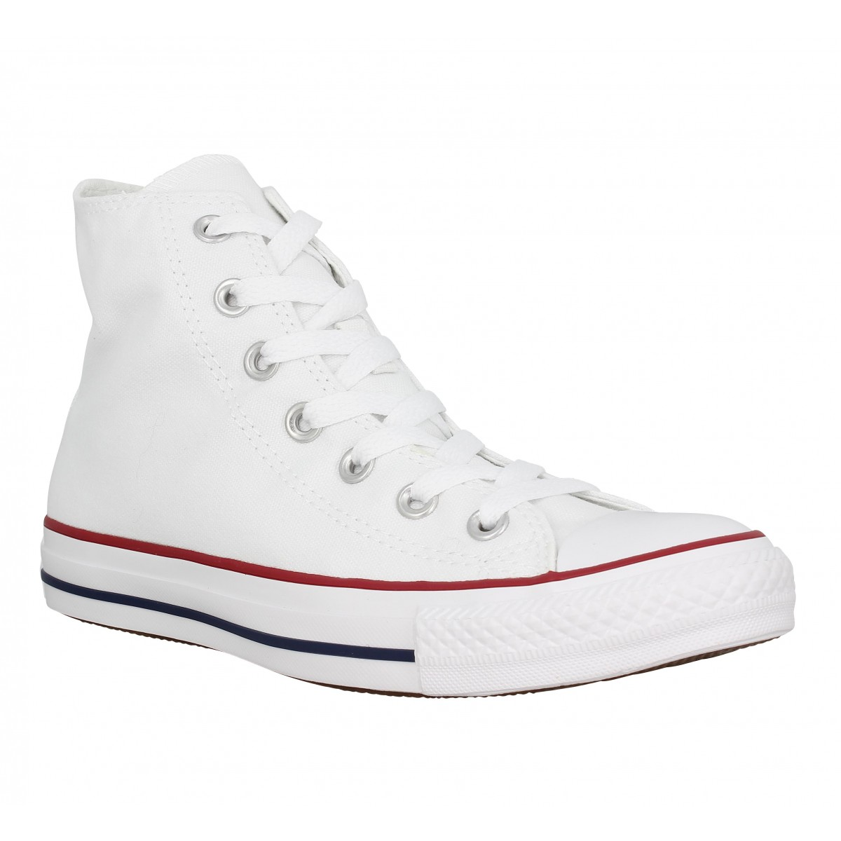 Baskets CONVERSE Chuck Taylor All Star Hi toile Homme Blanc