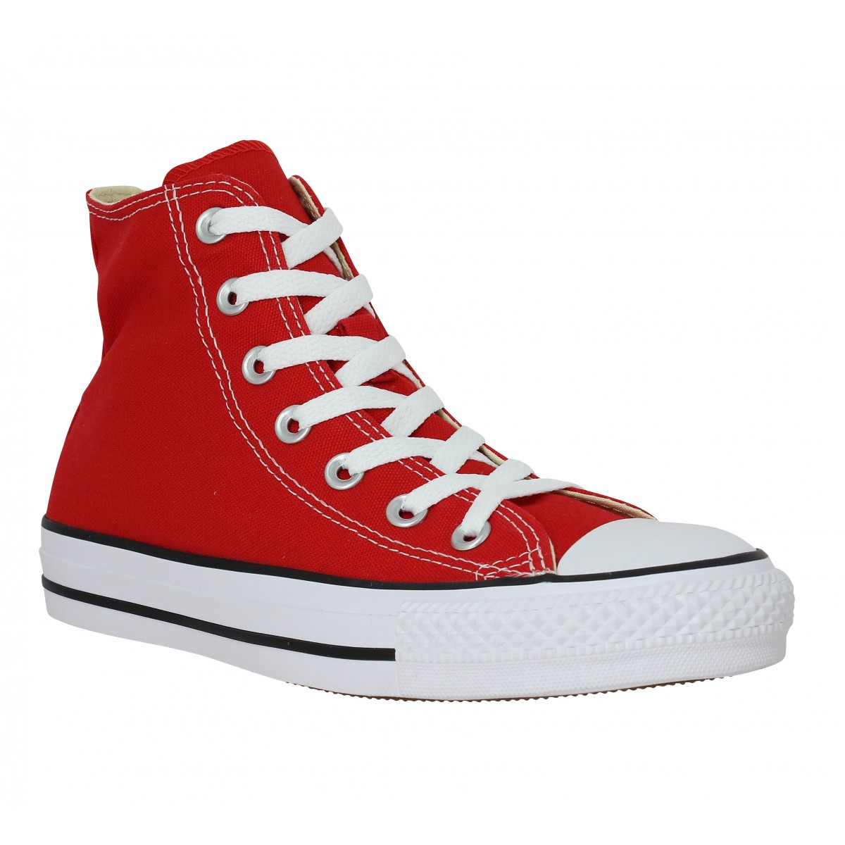 Baskets CONVERSE Chuck Taylor All Star Hi toile Homme Rouge