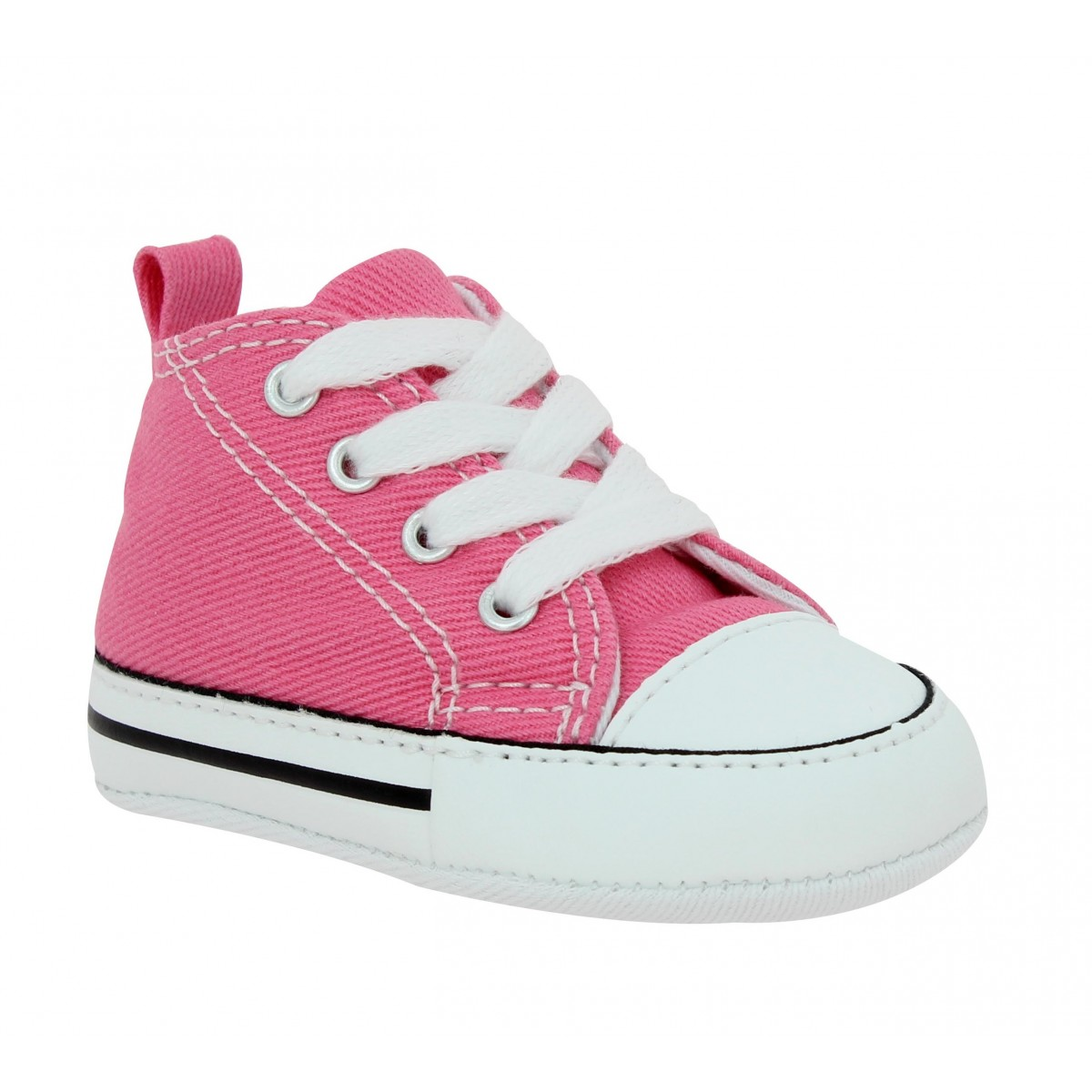 Baskets CONVERSE First Star toile Enfant Rose