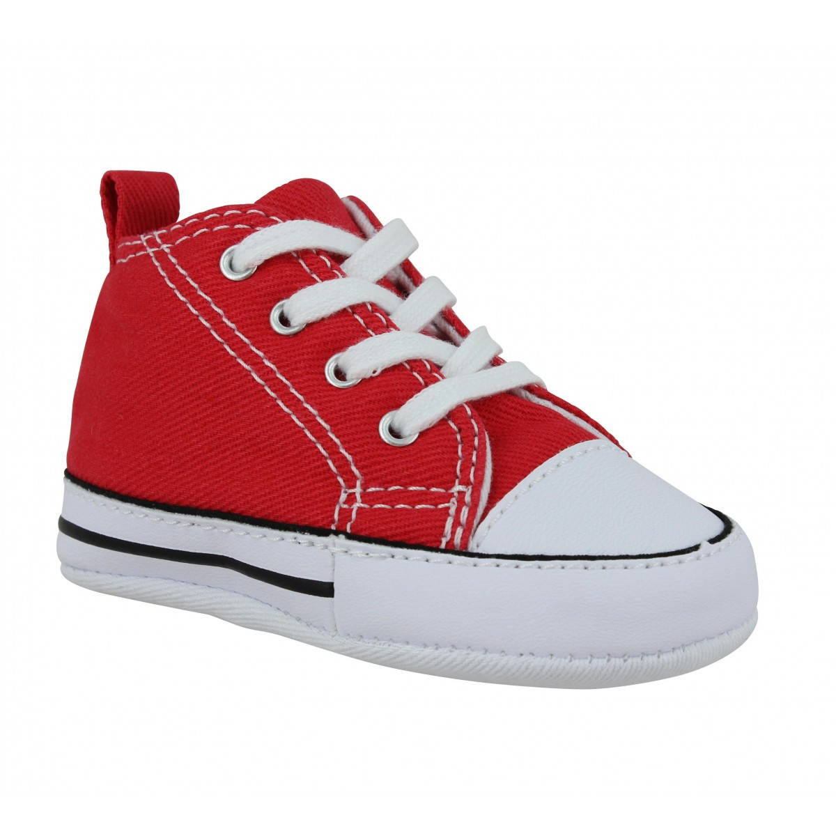 472c110112602 ... low price baskets converse first star toile enfant rouge e38b9 1b868